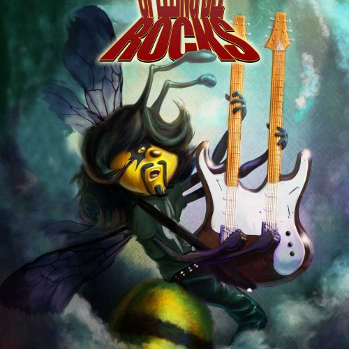 Heavy Metal Bee Game Concept Character