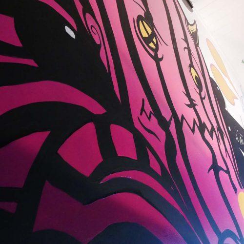 ReGrub Interior Mural - Octopus Takes Over Edmonton Close-Up