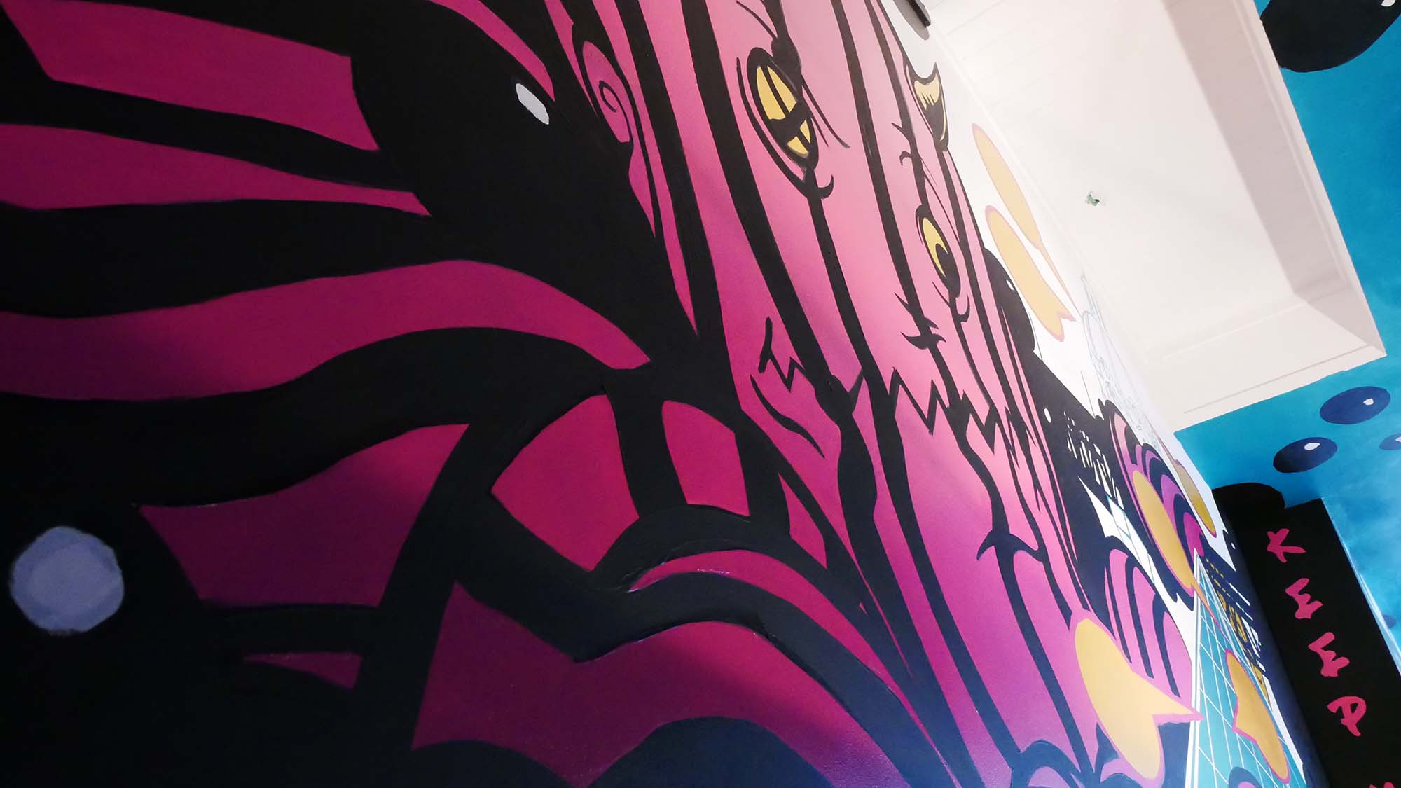 ReGrub Interior Mural - Octopus Takes Over Edmonton Close-Up