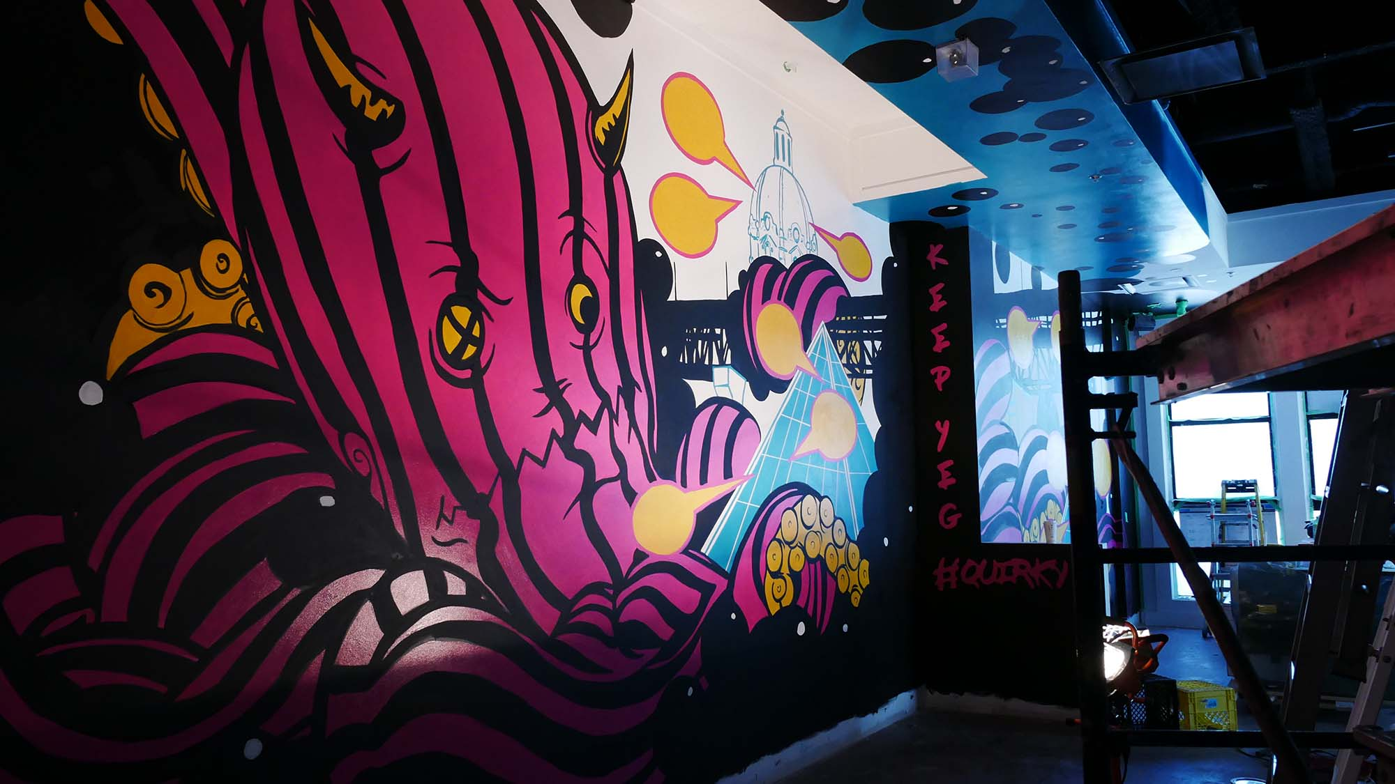 ReGrub Interior Mural Octopus Takes Over Edmonton Long Shot