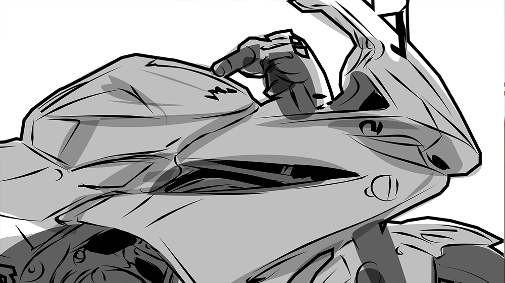 Honda CBR500R TV End of the day Storyboard