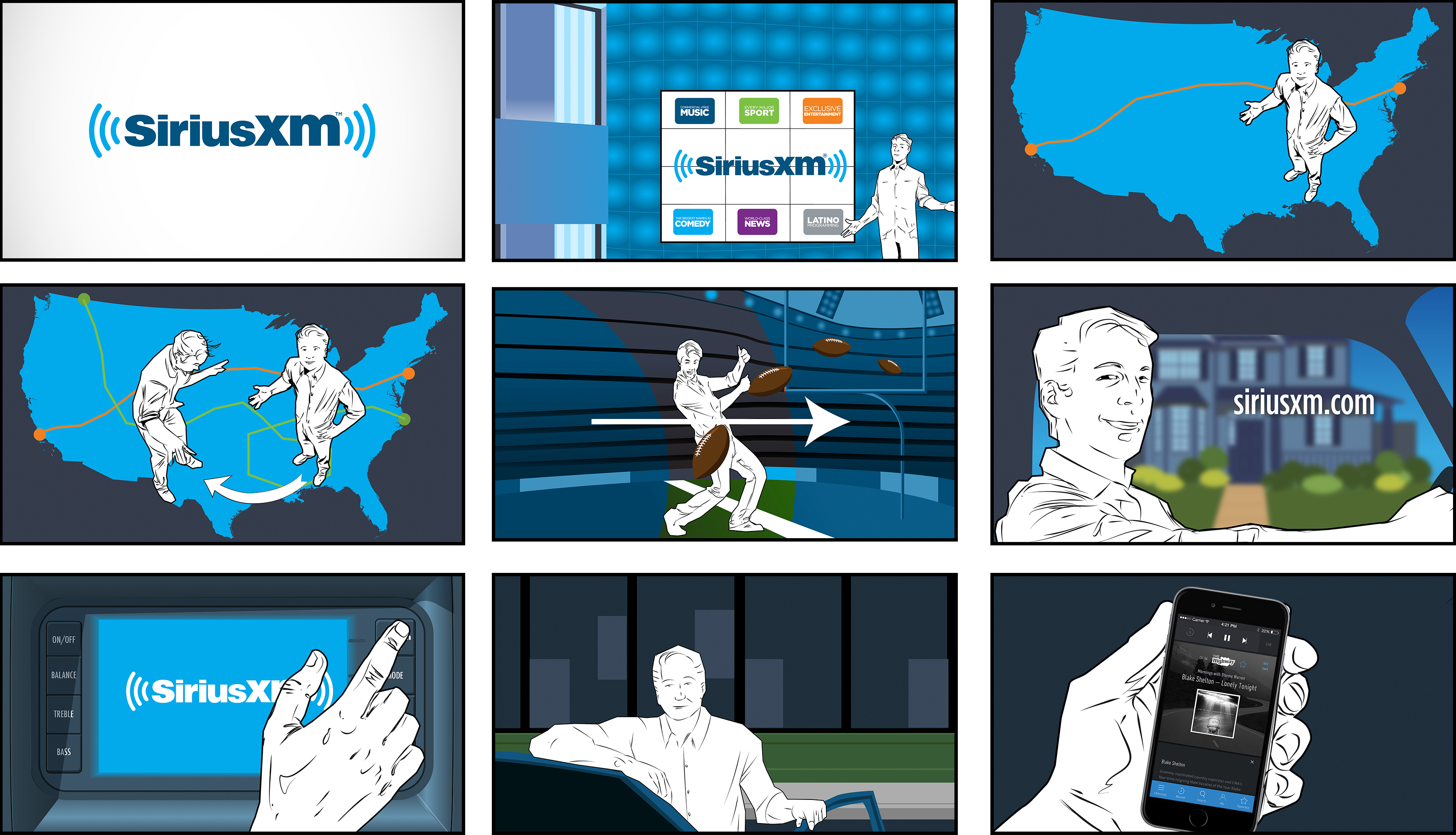 Storyboards SiriusXM